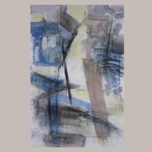 fusain et lavis sur papier, 80 cm x 120 cm
