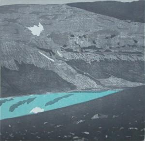 Chr.Eb. Bessvatnet-2011-Farbholzschnitt-27,3x28-cm